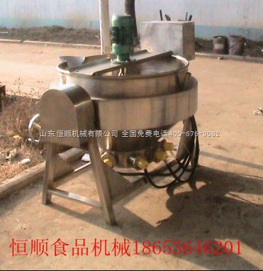 600L恒顺600L熬汤锅、煮饺子、炒菜用电热夹层锅