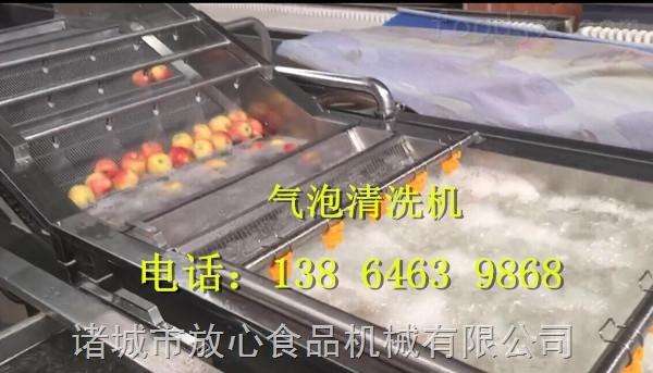 供应放心机械800型苹果清洗机  苹果清洗设备 苹果清洗机工作视频