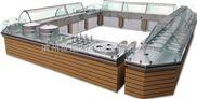 世瑞不銹鋼組合式售飯臺面點展示柜