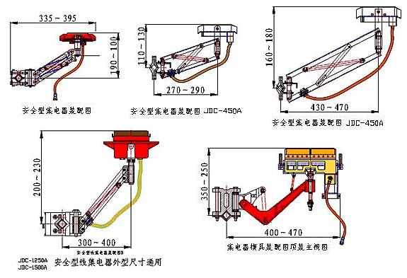 集电器容量要与用电设备相配,当单极容量不够时,采用双极集电器) 规&
