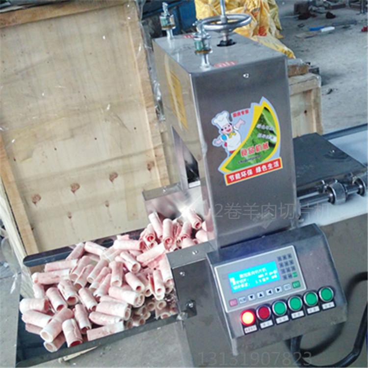 采用电动推料,电动压料,电动调节厚薄,步进式推料,肉料加工完毕切刀